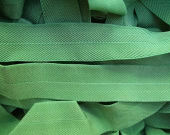 Foldover Elastic 1 inch Chevron 5 yds. Denim Blue Green Grass Green Baby Headbands Lingerie