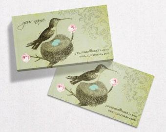 Business Cards  Custom Business Cards  Personalized Business Cards  Business Card Template  Vintage Business Cards  Bird Business Card V17