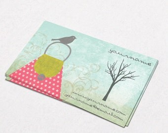 Business Cards  Custom Business Cards  Personalized Business Cards  Business Card Template  Modern Business Cards  Bird Business Card B7