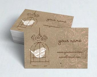 Business Cards  Custom Business Cards  Personalized Business Cards  Business Card Template  Modern Business Cards  Bird Business Card  B13