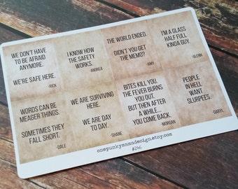 Walking Dead Season 1 Quote Stickers for Erin Condren (ID246)