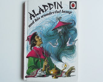 Vintage Ladybird Book - Aladdin and his wonderful lamp - excellent vintage condition- Children's Story Book