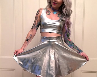Space Lady Silver Two Piece Set MADE TO ORDER