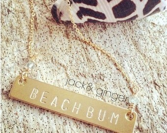 Custom Stamped Necklace-gold filled