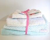 Bundle of Cotton Terry Fabric for Sewing Toys Doll Blankets Small Gifts - sale