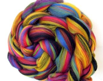 Merino Combed Wool Top - Fireworks Blend 100g