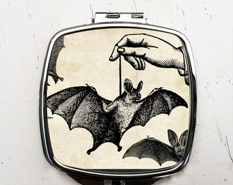 Dangling Bat Pocket Mirror