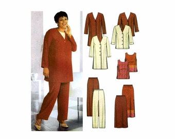 Womens Jacket Top Pants Skirt Simplicity 7186 Sewing Pattern Size 26 - 28 - 30 - 32 Bust 48 - 50 - 52 - 54 Uncut