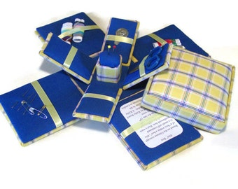 Etui Sewing Kit Needlework Box Plaid