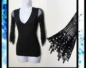 Date Night Shirt Collection - Reversible Venice Lace Wings Top / made to Order