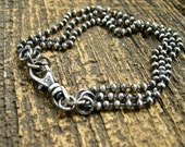 unisex sterling silver ball chain bracelet, bead chain bracelet, unisex jewelry, mens bracelet, womens bracelet