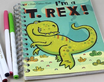 I'm a T. Rex Upcycled Lined Journal