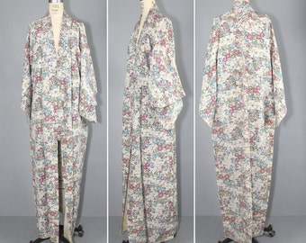 silk kimono / dressing gown / vintage kimono / MULBERRY ROAD silk robe