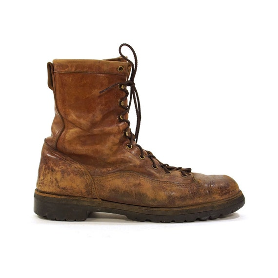 danner lace up work boots roper packer boots in brown