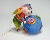 PDF CLASS Needle Felted Animal Dressed Mouse & Bunny Class Needle Felting / Create a Bunny and Mouse (Kit Available and sold separately)