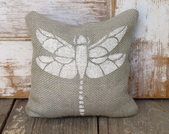 Dragonfly - Burlap Doorstop - Dragonfly Decor - Burlap Door Stop - Garden Decor - dragonfly doorstop - insect