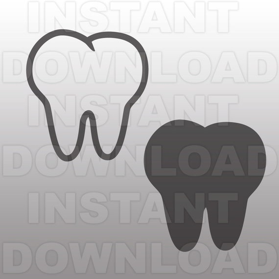 First Tooth Svg File Cutting Template Vector Clip Art For
