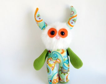 Sweet Dreams Doll Stuffed Animal Monster Plush Toy Monster Kawaii Softie Snuggly Cuddly Paisley Print