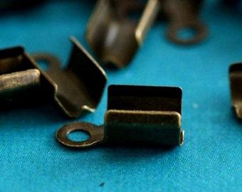 Sale 100pcs Antique Bronze finish large Cord Tip End Caps