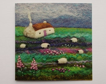 Greetings Card Heathe Bothy Cottage