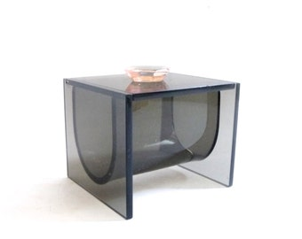 SUMMER SALE Modernist Lucite Jewelry Vanity Box