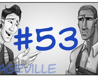 Vintageville #53 Black and White indie comic book