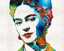 articles populaires correspondant frida kahlo painting. Black Bedroom Furniture Sets. Home Design Ideas