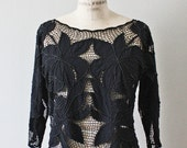 Beaded Gypsy Blouse. S-M