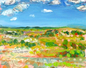 Off the Caprock original mixed media acrylic landscape painting