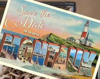 Vintage Large Letter Postcard Save the Date (Montauk, NY) - Design Fee