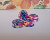 set of 4 handmade flower and butterfly 16mm yoyo beads