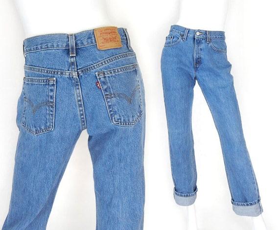 jahrgang 90er jahre levi 39 s 505 gr e 6 damen boyfriend jeans. Black Bedroom Furniture Sets. Home Design Ideas