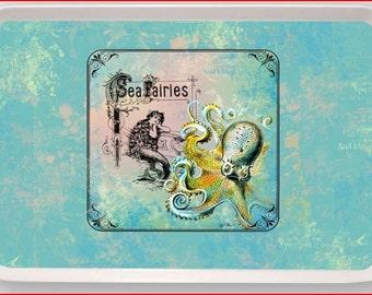 Mermaid Sea Fairies Octopus Art Melamine Serving Tray gift