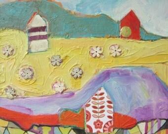 Original painting by Michelle Daisley Moffitt.....Flower Field
