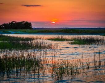 Marsh Sunset Print