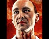 "Print 8x10"" - John Doe - Se7en Kevin Spacey Serial Killers Pop Art Dark Art Horror Seven Deadly Sins Brad Pitt Blood Morgan Freeman"
