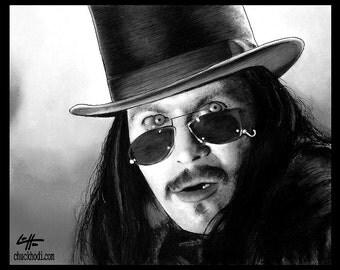 "Print 8x10"" - Dracula - Gary Oldman Bram Stoker Vampire Blood Winona Ryder Pop Art Lowbrow Art Gothic Halloween Monster Creature Dark Art"