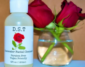 Rosewater Gel Facial Cleanser (Vegan Friendly)