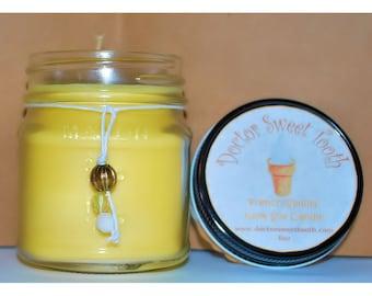 French Vanilla Soy Mason Jar Candle 8oz
