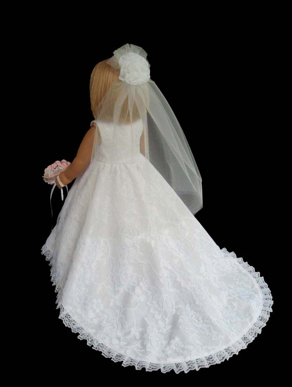 American girl doll wedding dress white lace item7 for American girl wedding dress