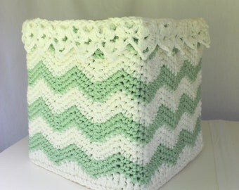 Lace Crochet Basket Pattern - Square Crochet Basket - Crochet Storage - Child's Toy Box - No. 98