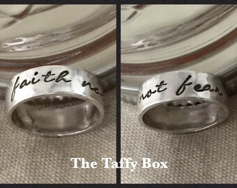 Custom Hand Stamped Sterling Band
