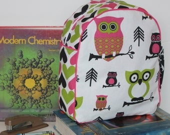 Handmade Owl Backpack for a Toddler -Ready to Ship-CLEARANCE TAKE 30% OFF/ no coupon needed