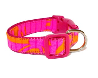 Seaesta Dog Collar Made from Lilly Pulitzer Fabric Size: Your Choice