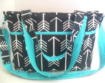 Black Arrow Diaper Bag - Black Arrow - Zipper Closure - Arrow Diaper Bag - Diaper Bag - Arrow Bag - Messenger Bag - School Bag - Laptop Bag