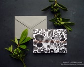Happy Birthday Card, Foil Happy Birthday, Birthday Card Set, Flower Birthday, Calligraphy Birthday (Set of 4 Folded Cards + Envelopes)