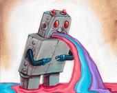 Original Robot Art - Robot - by Mr. Hooper of Nashville, Tennessee -On Sale