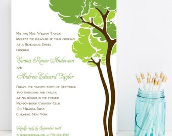 10 Tree Rehearsal Dinner Invitations