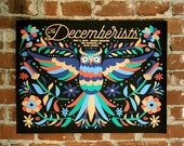 The Decemberists- Official Gig poster- Los Angeles, CA
