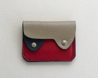 Small Leather  Wallet, Coin Purse, Card Case, Compact Leather Wallet, Minimalist Wallet